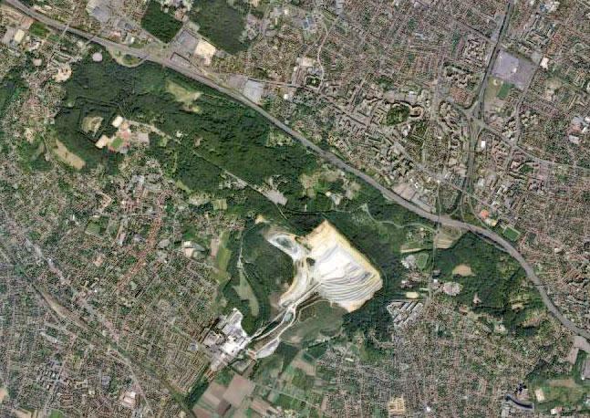 Vue aérienne des Buttes du Parisis dans le Val-d'Oise / DR