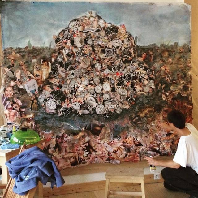 L'artiste Valérie Minetto expose à la foire B'Honneur en 2016 / DR