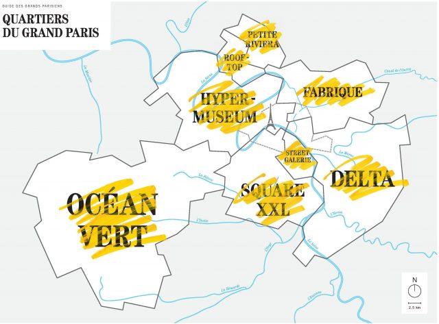 La carte des Grands Parisiens