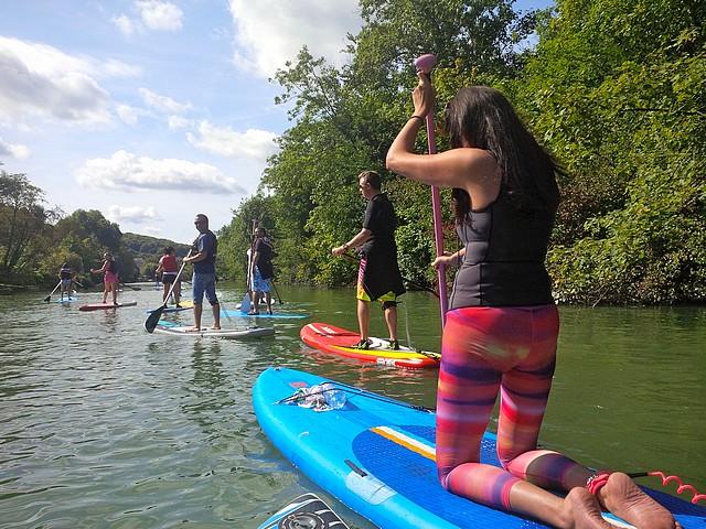 Stand up paddle sur la Marne avec le Grand Huit / DR