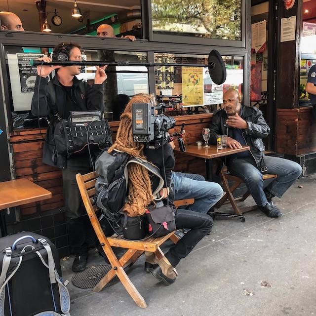 """Tournage de """"Demain c'est déjà loin"""" à Montreuil / © Jean-Fabien Leclanche pour Enlarge your Paris"""
