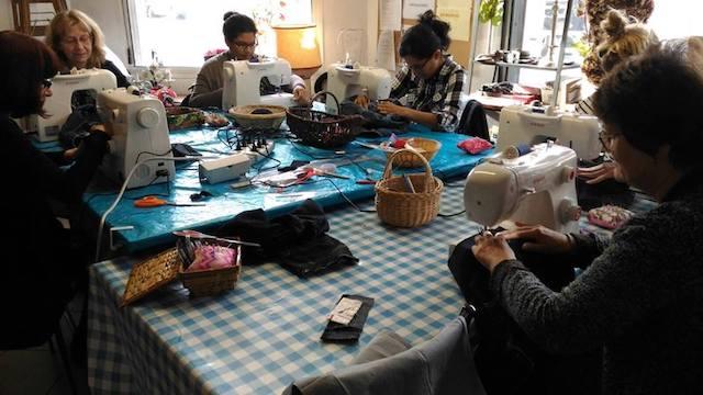 Atelier couture à la Mine à Arcueil / DR