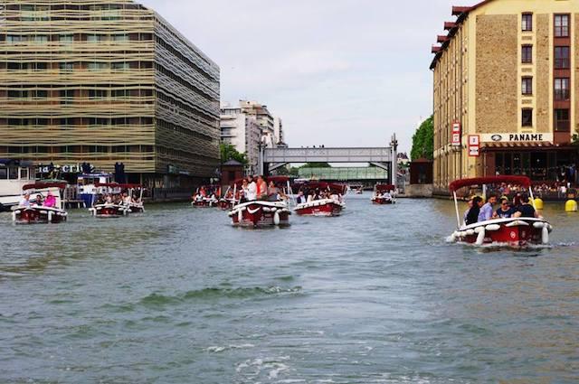 Les bateaux électrique de Marin d'eau douce sur le canal / DR