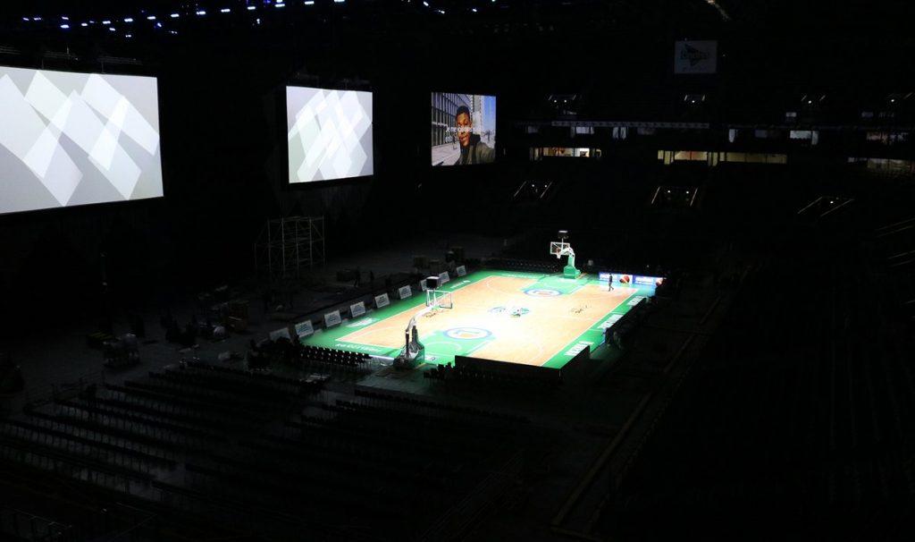 L'U Arena de Nanterre en version salle de basket / DR