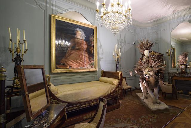 La chambre de Napoléon Ier et « Cavalion » de l'artiste Julien Salaud / © Benjamin Barda - CMN