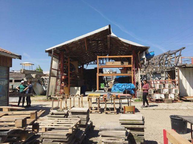 L'Actlab du collectif Bellastock, lieu d'architecture expérimentale sur l'Île Saint-Denis / DR