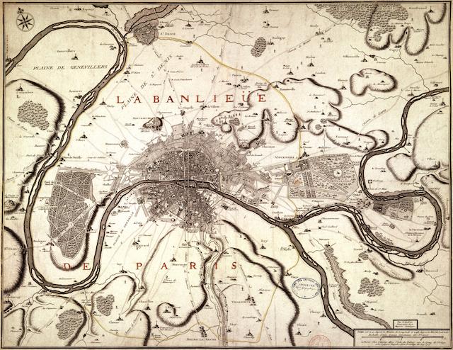 La carte de la banlieue de Paris par Nicolas du Fer / © IAU