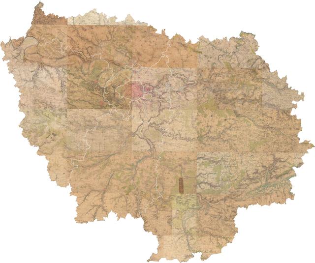 Carte de France type 1900 dressée par le service géographique de l'armée / © IAU