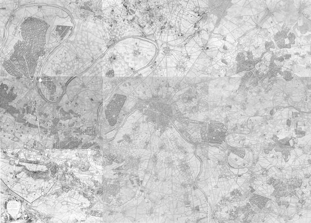 Carte de environs de Paris par l'abbé Delagrive / © IAU