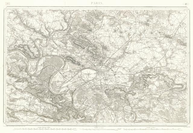 Carte de Paris réalisée par l'Etat-major des armées / © IAU