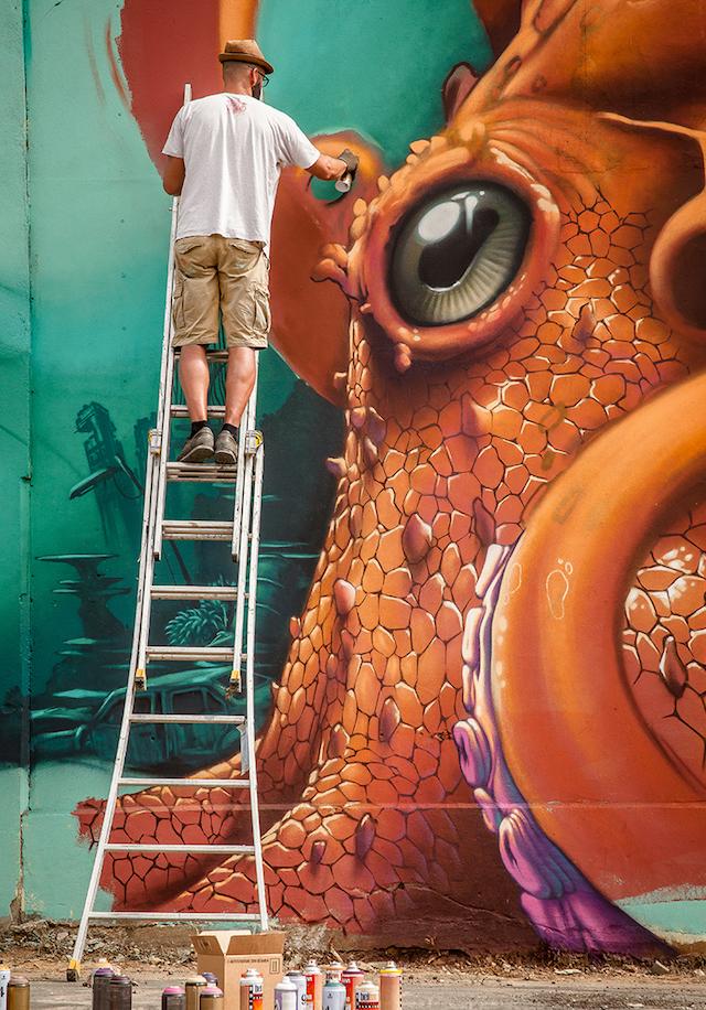L'artiste Kalouf sera l'un des invités du prochain festival street art de Saint-Germain-en-Laye / DR