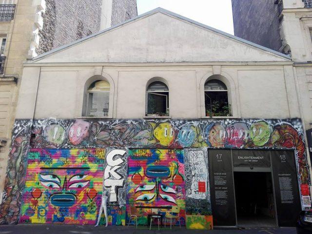 Façade de La Capela peinte par le street artiste Kashink / DR