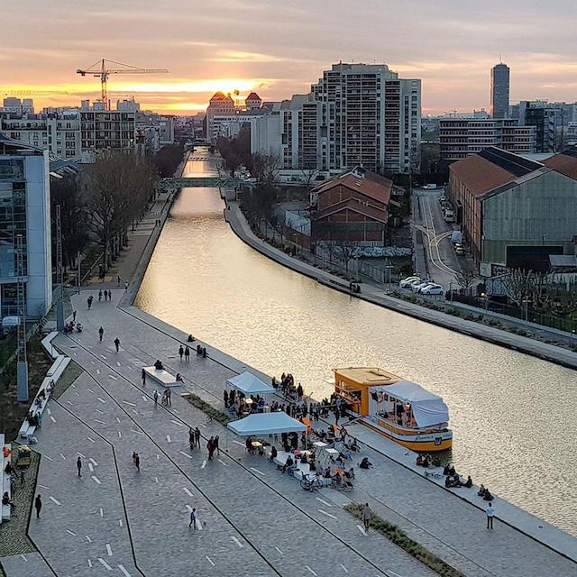 Le Canal Barboteur sur la place de la Pointe à Pantin / DR