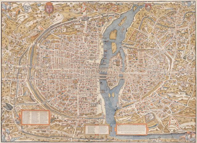 Plan de Paris par Truschet et Hoyau / © IAU