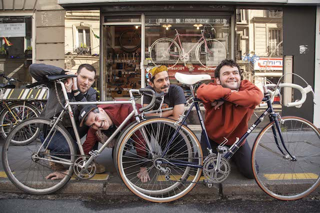 Matthieu, Manu, Mathias et Martin, les 4 fondateurs du festival Sans les mains © Tom McGeehan