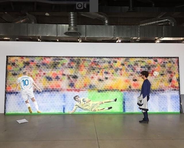Oeuvre signée Stéphane Pencréac'h présentée dans l'exposition Par amour du jeu aux Magasins généraux à Pantin / © Stéphane Pencréac'h