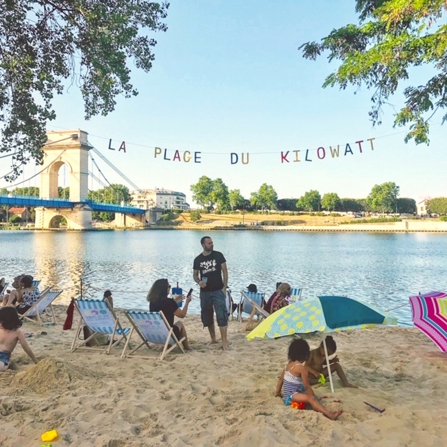 La plage du Kilowatt à Vitry / © Vianney Delourme pour Enlarge your Paris
