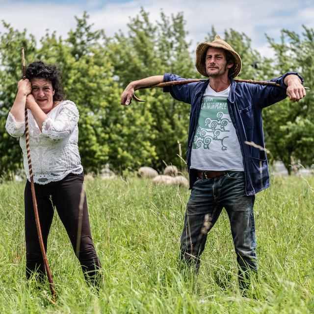 Julie-Lou Dubreuilh et Guillaume Leterrier, membres de Clinamen / © Jean-Fabien Leclanche pour Enlarge Your Paris