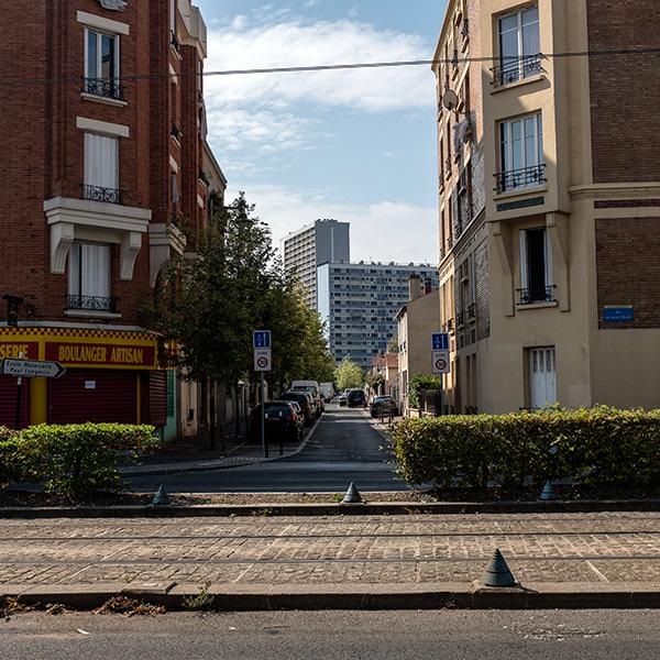 Paysage urbain sur le chemin de La Courneuve