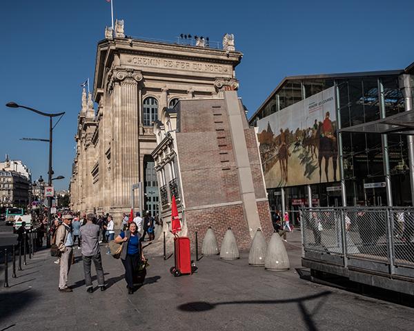 Le parvis de la Gare du Nord