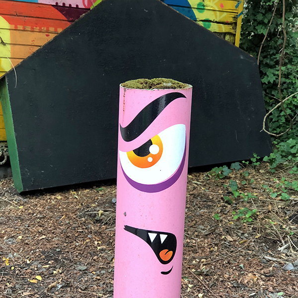 Street Art à l'entrée du Fort d'Aubervilliers