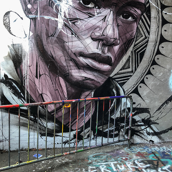 Œuvre Street Art à l'Aérosol