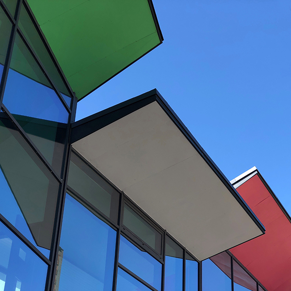 Architecture d'inspiration Mondrian