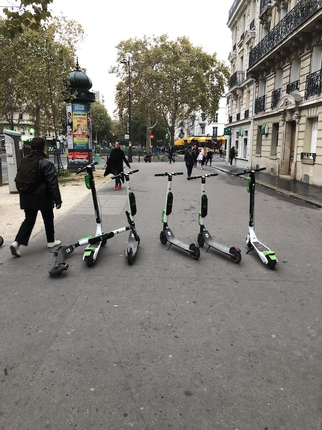 Trottinettes free floating Paris