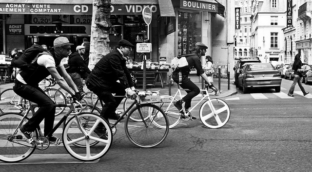 Cyclistes à Paris / © Agat-a (Creative Commons - Flickr)