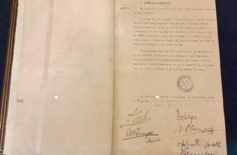 100 ans après, l'original de l'armistice de 1918 exposé au château de Vincennes