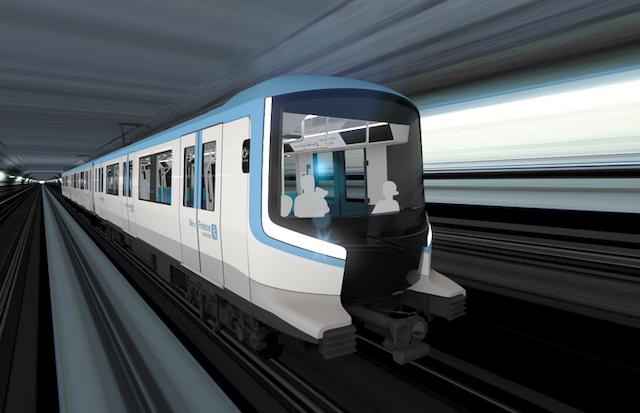 Une rame du futur métro du Grand Paris Express / © Alstom