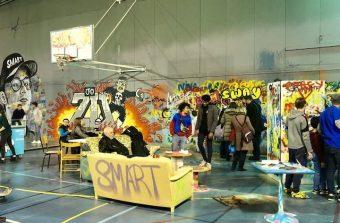 Un gymnase fait don de son corps au street art avant destruction