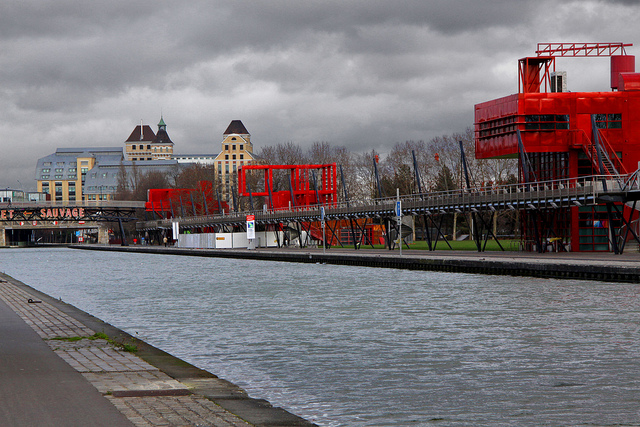 Le canal de l'Ourcq à La Villette / Guillaume Baviere (Creative commons - Flickr)