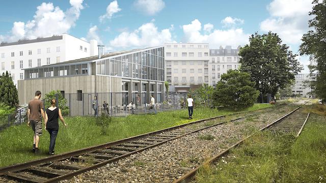 La future Ferme du rail dans le 19e / © Grand Huit