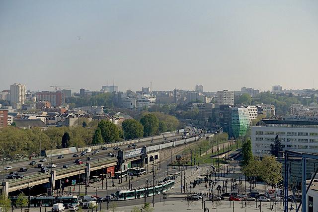 Le périphérique Porte de Pantin vu depuis le belvédère de la Philharmonie / © Guilhem Vellut (Creative commons - Flickr)