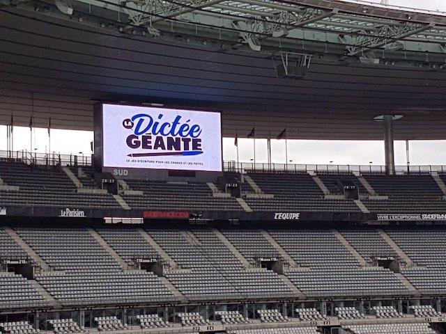 La Dictée géante au Stade de France / © Geoffrey CARVALHINHO - Twitter