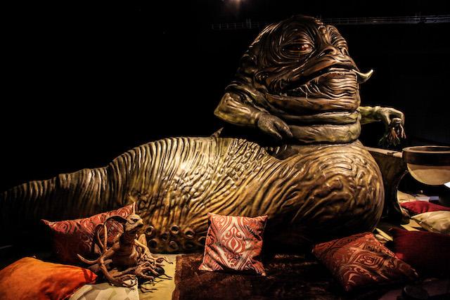 """Réplique de Jabba Le Hut à l'échelle 1 présentée au sein de l'expo """"Les fans contre-attaquent"""" / DR"""