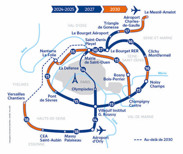 La carte du Grand Paris Express / © Société du Grand Paris