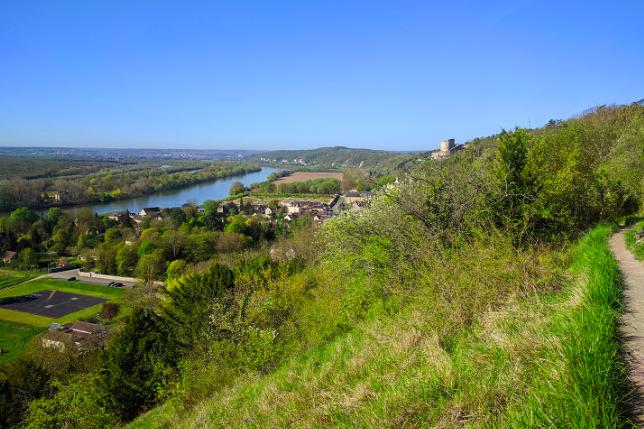 La Seine vue depuis les coteaux de La Roche-Guyon dans le Val-d'Oise / © Helloways