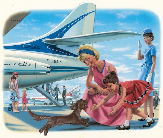 """L'une des illustrations de """"Martine"""" de Marcel Marlier qui sera mise aux enchères chez Artcurial / © Artcurial"""
