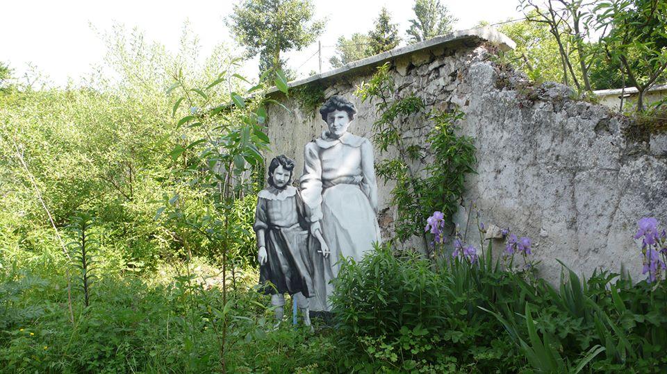 Land Art aux Murs à pêches à Montreuil / © La Fée des friches