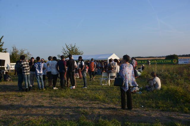 Mobilisation citoyenne dans le Triangle de Gonesse contre le projet de centre commercial Europe City / © Non à Europa City