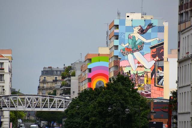 """Fresques street art géantes sur le """"Boulevard 13"""" à Paris dans le 13e arrondissement /  © Jeanne Menjoulet"""