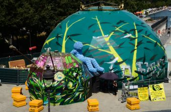 L'Escargot Forêt, une oeuvre street art immersive pour réfléchir à l'écologie