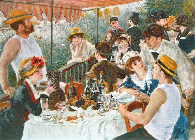 """""""Le Déjeuner des canotiers"""", réalisé entre 1880 et 1881 par Pierre-Auguste Renoir et dont la scène prend place sur l'île des impressionnistes à Chatou / © Musée Fournaise / Phillips Collection,"""
