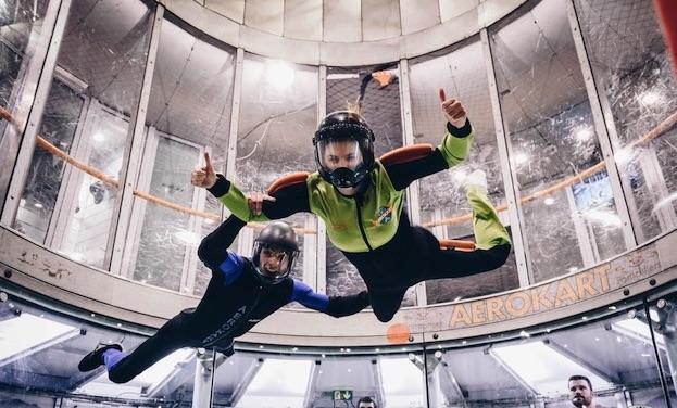 Séance de chute libre chez Aerokart à Argenteuil / © Aerokart