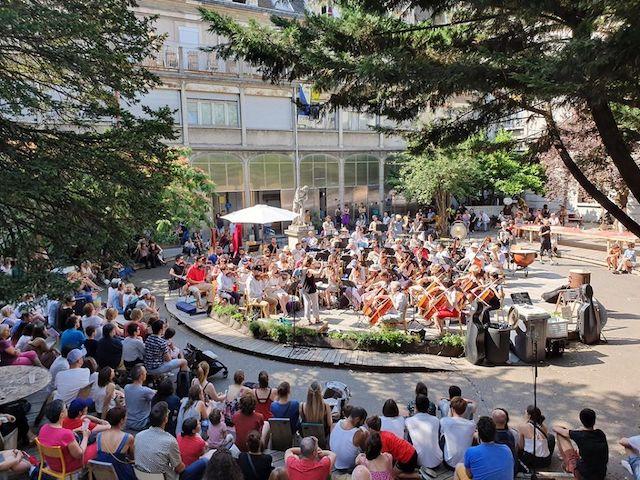 L'Orchestre impromptu aux Grands Voisins à Paris / © Orchestre impromptu