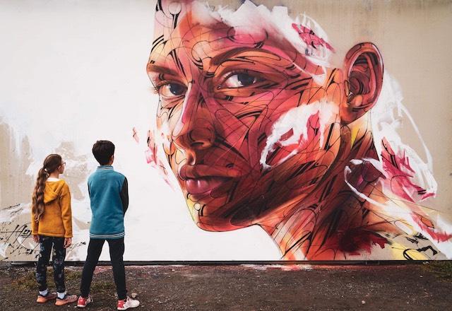 Fresque du street artiste Hopare / © Hopare