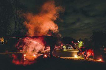 Une nuit avec les dinosaures dans le bois de Boulogne