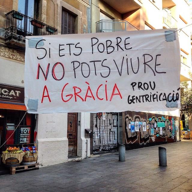 Banderole dans les rues de Barcelone / © biwabcn (Creative commons - Flickr)